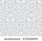 abstract grey seamless hand... | Shutterstock .eps vector #374103493