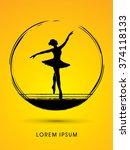 ballet dance designed using... | Shutterstock .eps vector #374118133