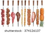 brazilian cuisine grilled... | Shutterstock . vector #374126137