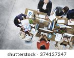 group of business people... | Shutterstock . vector #374127247