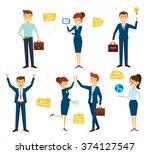 business character design set...   Shutterstock .eps vector #374127547