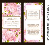 vintage delicate invitation... | Shutterstock .eps vector #374151073