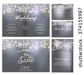 wedding invitation  rsvp  and... | Shutterstock .eps vector #374155987