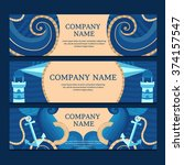 vector banner templates in a... | Shutterstock .eps vector #374157547