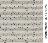 seamless music pattern with... | Shutterstock .eps vector #374171893