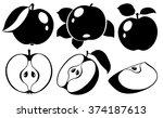 vector illustration. collection ... | Shutterstock .eps vector #374187613