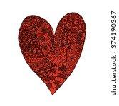 love  valentine heart  sketch... | Shutterstock .eps vector #374190367