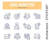 concept icons of email... | Shutterstock .eps vector #374191387
