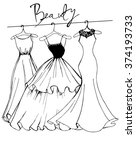 fashionable women's dresses.... | Shutterstock .eps vector #374193733