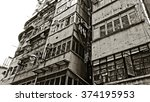 old residential building in... | Shutterstock . vector #374195953