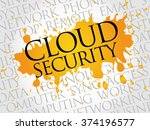 cloud security word cloud... | Shutterstock . vector #374196577