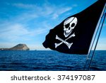 Pirate Flag On The Sea