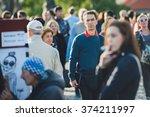prague  czech republic  ...   Shutterstock . vector #374211997