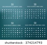set of 200 universal icons  ... | Shutterstock .eps vector #374214793