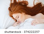 tender cute young woman with... | Shutterstock . vector #374222257