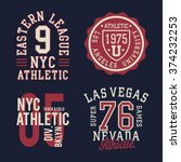 vintage labels athletic sport... | Shutterstock .eps vector #374232253