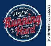 athletic sport ruuning... | Shutterstock .eps vector #374232283