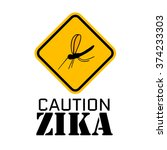 a yellow sign with a black... | Shutterstock .eps vector #374233303