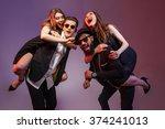 Multiethnic Group Of Happy...