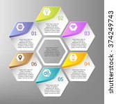 colorful infographics template... | Shutterstock .eps vector #374249743