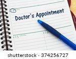 scheduling your doctor's...   Shutterstock . vector #374256727