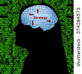 strategy in mind | Shutterstock . vector #374284573