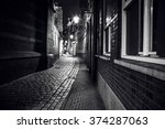 city sights of amsterdam at... | Shutterstock . vector #374287063
