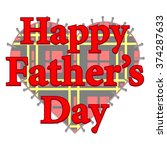 happy father's day patch card... | Shutterstock .eps vector #374287633