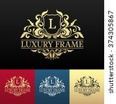 luxury label or king place...   Shutterstock .eps vector #374305867