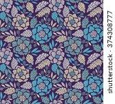 seamless floral pattern. vector ... | Shutterstock .eps vector #374308777