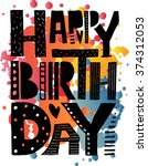 hand drawn typography poster. ... | Shutterstock .eps vector #374312053