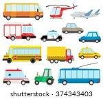 set of cartoon transport | Shutterstock .eps vector #374343403