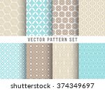 vector pattern set   collection ... | Shutterstock .eps vector #374349697