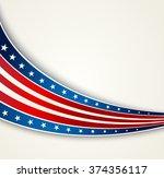 american flag  vector patriotic ... | Shutterstock .eps vector #374356117