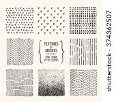 hand drawn textures and brushes.... | Shutterstock .eps vector #374362507