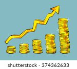 gold coins with increasing... | Shutterstock .eps vector #374362633