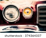classic car with close up on... | Shutterstock . vector #374364337