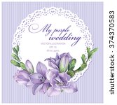 frame for wedding invitation... | Shutterstock .eps vector #374370583