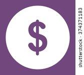 dollar icon vector flat design