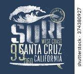 surfing artwork. world's best... | Shutterstock .eps vector #374380927