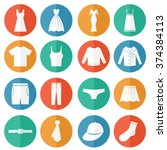 clothes icons vector | Shutterstock .eps vector #374384113