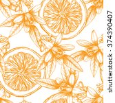 vector seamless pattern with... | Shutterstock .eps vector #374390407
