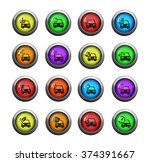 car service icons set for web... | Shutterstock .eps vector #374391667