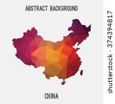 china map in geometric... | Shutterstock .eps vector #374394817