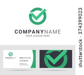 logo and business card template ... | Shutterstock .eps vector #374399023