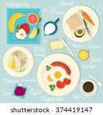 Healthy Breakfast Vector Set