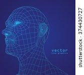 3d mesh human head medical scan ...   Shutterstock .eps vector #374430727