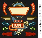 retro showtime signs design... | Shutterstock .eps vector #374434603