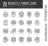 line icons set. trendy modern...   Shutterstock .eps vector #374436763