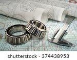roller bearing  vernier... | Shutterstock . vector #374438953